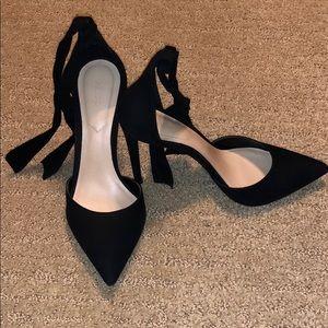 Gorgeous Ankle Tie Aldo Black Pumps